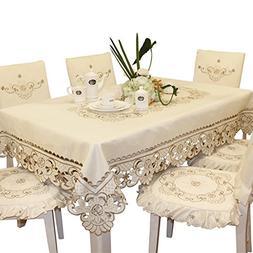 BeautiLife Luxury Cutwork Tablecloth Handmade Embroidery Flo