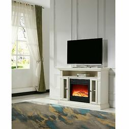 """Charlton Home Luz 48"""" TV Stand with Electric Fireplace"""