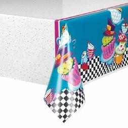 """Mad Hatter Tea Party Plastic Tablecloth, 84"""" x 54"""""""