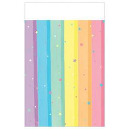 MAGICAL RAINBOW PLASTIC TABLE COVER ~ Birthday Party Supplie
