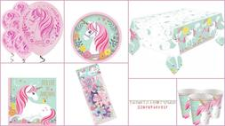 Magical Unicorn Partyware, Birthday Party plates, napkins, b