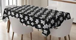 Magnolia Tablecloth Ambesonne 3 Sizes Rectangular Table Cove