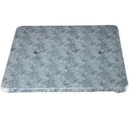 Marble Vinyl Elasticized Banquet Table Cover