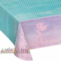 MERMAID SHINE PLASTIC TABLE COVER ~ Birthday Party Supplies