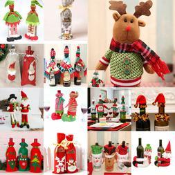 Merry Christmas Santa Wine Bottle Bag Cover Xmas Dinner Part