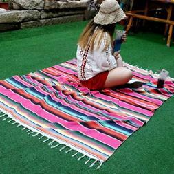 Mexican Serape Blanket Yoga Cotton Tablecloth Wedding Mexica