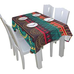 BAIHUISHOP Mexican Floral Print Tablecloth Rectangular Polye