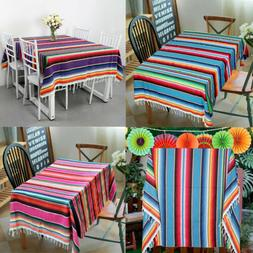 Mexican Serape Table Runner Blanket Tablecloth Cotton Cover