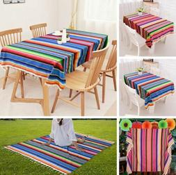 Mexican Serape Table Runner Tablecloth Picnic Blanket Home P