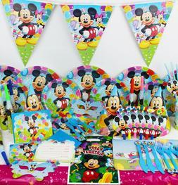Mickey Mouse Clubhouse Birthday Party SET RANGE Plates Napki