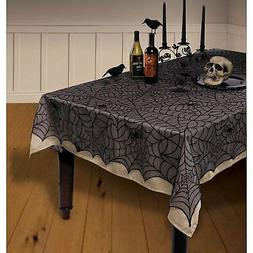 Midnight Lace Fabric Tablecover   Nylon. Halloween Decoratio