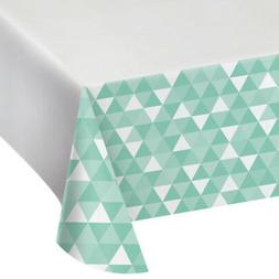 MINT GREEN FRACTAL PLASTIC TABLE COVER ~ Wedding Birthday Pa