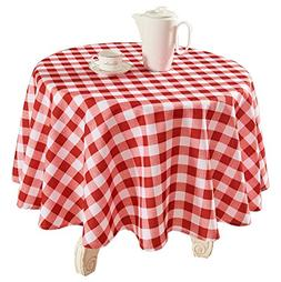 YEMYHOM 100% Polyester Spillproof Tablecloths for Round Tabl