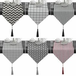 Morden Simple Table Runner Rectangle Tablecloth Tasseled Tab