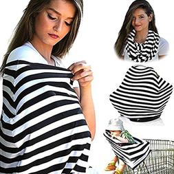Multi-Use Stretchy Cotton Baby Nursing & Breastfeeding Cover