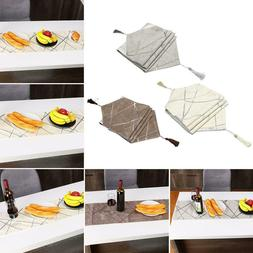 Multiple Style Restaurant Bed Tassel Flag Irregular Line Tab