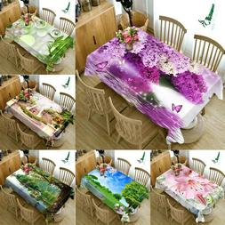 Nature Floral print Tablecloth New Home Kitchen Dinner Decor