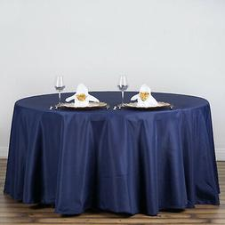 NAVY BLUE 120 Inch ROUND TABLECLOTH Wedding Decorations Part
