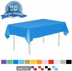 Navy Plastic Tablecloth Disposable Rectangle Table Covers fo