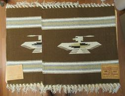 NEW 2 CHIMAYO 100% WOOL 15X15 INCH SOUTHWEST PLACEMAT TABLE