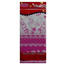 New 820020  Table Cover Its A Girl 54 X 108 Plastic  Party C