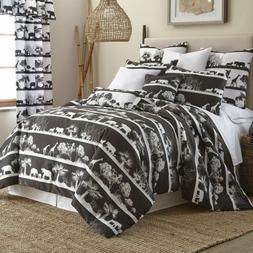 NEW Comforter Set Black White AFRICAN SAFARI King Size Rever