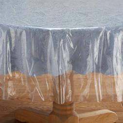 NEW Crystal Clear Tablecloth Cover-Vinyl Table Protector