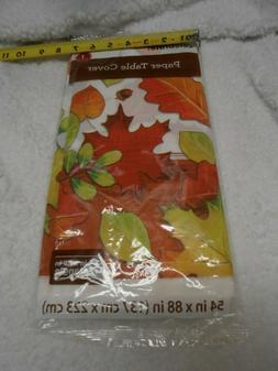 New disposable paper Table Cover fall pretty leaves designs