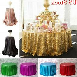 New Glitter Sequin Round Tablecloth Shiny Bling Wedding Part