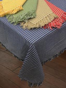 Homespun Woven Cotton Reversible Tablecloth - Lintex Homespu