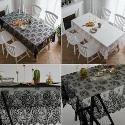 New Lace Tablecloth Tea Flower Rectangle Table Cover Dining