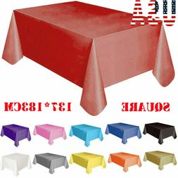 New Large Plastic Rectangle Table Cover Cloth Wipe Clean Par