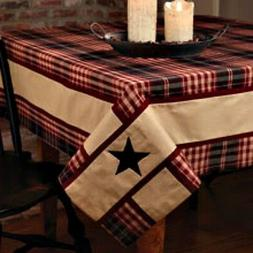 new primitive country village black star tablecloth