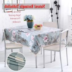 New Rectangle Tablecloth Table Cover Cotton Theme Wedding Pa