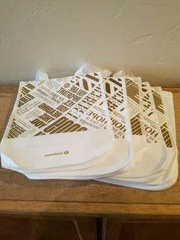 Lululemon NEW Set of 20 Reusable Small Shopping Tote Bag Whi