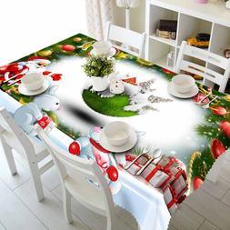Meijuner New Year Christmas Tablecloth <font><b>Kitchen</b><