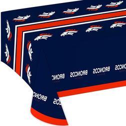 """NFL Official Licensed Denver Broncos Plastic Table Cover 54"""""""