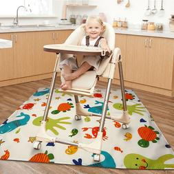 Non Slip Floor Mat for Baby High Chair,Waterproof Table Cove