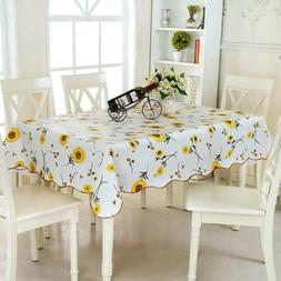 Nordic Flower Cotton Tablecloth New Home Kitchen Dinner Deco