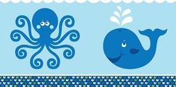 Creative Converting Ocean Preppy Boy Plastic Table Cover, Re