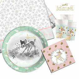 Disney Official Bambi Baby 1st Birthday Party Tableware Supp