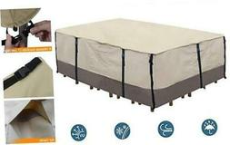 Ogrmar Heavy Duty 600D Patio Table Cover Waterproof Rectangl