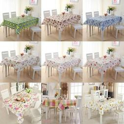 Oil Proof PVC Table Cloth Cover Home Dining Kitchen Tableclo