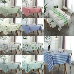 Oil Proof Washable Tablecloths Decorative Table Cover for Pi
