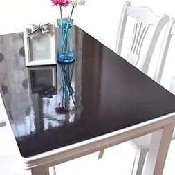 OstepDecor Table Pads Black Plastic Top Protector Tablecloth