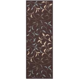 Ottomanson Ottohome Contemporary Leaves Non-Skid Modern Rugs