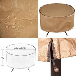 "Outdoor Patio Round Fire Pit Cover/Table Cover 40"" Water Res"