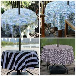 Outdoor Tablecloth Waterproof Fabric Table Cover with Zipper