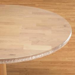 Oval Oblong Elasticized Tablecloths Clear Table Cover Vinyl