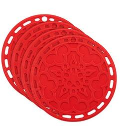 Silicone Hot Pads  - 6 in 1 Multi-purpose Kitchen Tool, Pot